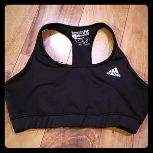 womens Adidas black sports bra medium